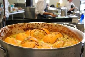 Orange and rooibos tea jus for wallaby, Alain Passard at TAFE Launceston