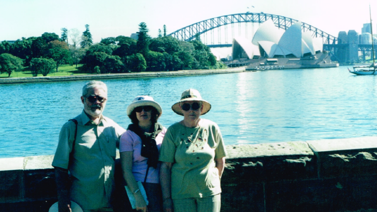 With ian and edna in sydney