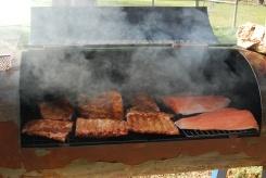Smoked salmon and ribs
