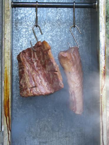 Smoking bacon