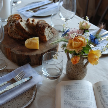 Table setting image to accompany blog post about Kate Atkinson on what food says about characters