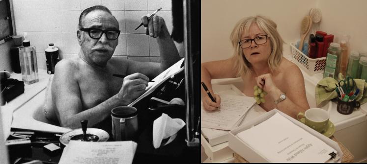 Apple Island Wife and Dalton Trumbo in bath