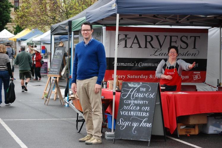 Simon McInerney at Harvest Launceston