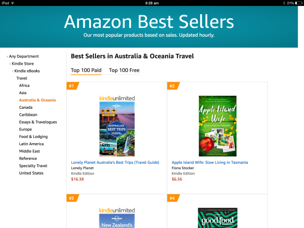 Apple Island Wife ranking on bestseller list
