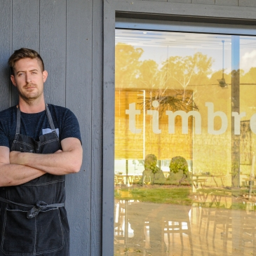 Chef Matt Adams at Timbre Kitchen in the Tamar Valley